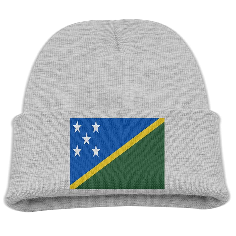 ef509391 ZWZ Flag Of The Solomon Islands Kid's Hats Winter Funny Soft Knit Beanie  Cap Children Unisex