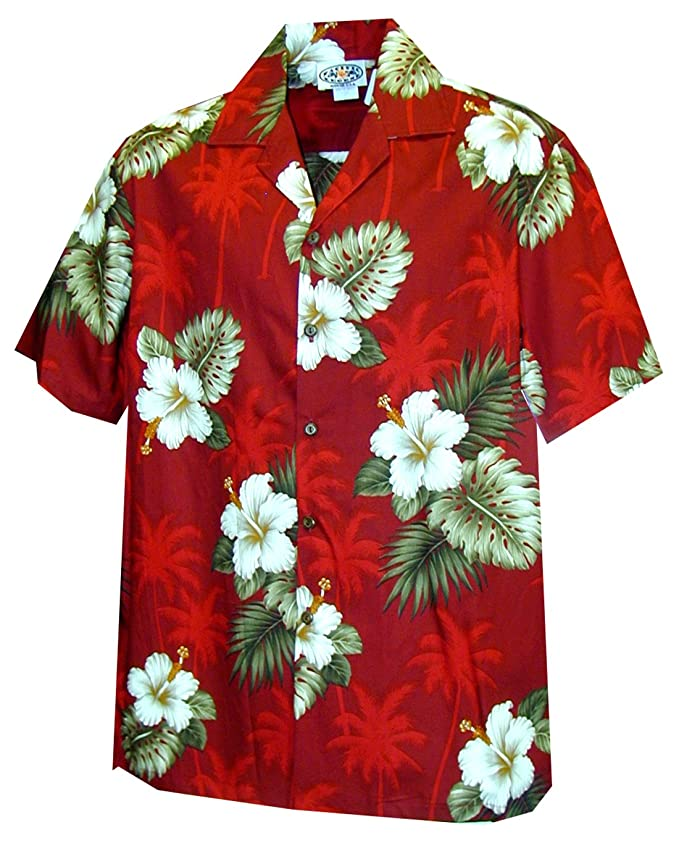 Kids 1950s Clothing & Costumes: Girls, Boys, Toddlers Pacific Legend Boys White Hibiscus Monstera Shirt $23.99 AT vintagedancer.com
