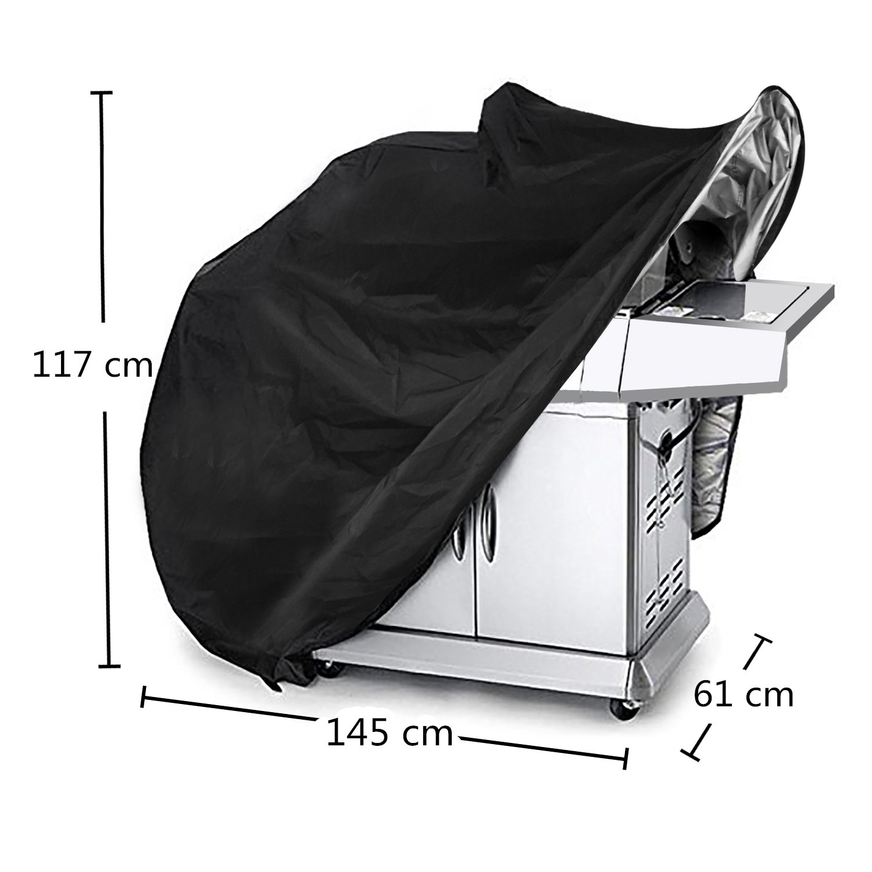 Large Barbecue Cover, Kit de cubierta de parrilla, cubierta impermeable para barbacoa, cubierta para parrilla de gas resistente 145 x 61 x 117 cm Incluye un ...