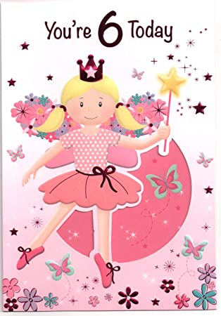 QuotBirthday Card For Six 6 Year Old Girl