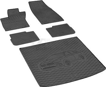 Gummi Kofferraumwanne Set für Fiat Tipo 356 Stufenheck Bj2016  GKK Gummimatten