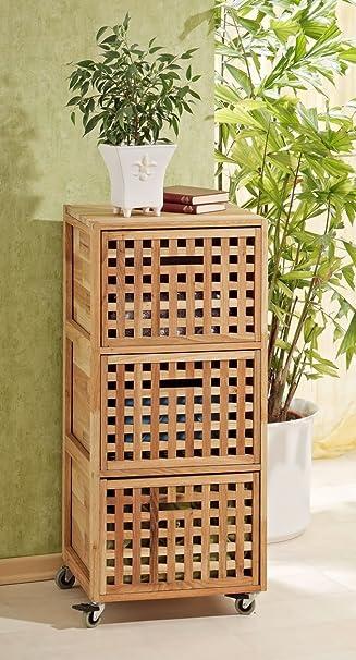 Superb Rollcontainer, Regal, Wäschebox Schrank Aus Walnuss Holz