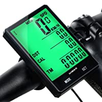Mishuo Fahrradcomputer GPS Fahrradtacho Kabellos Wasserdicht Kinder Analog Batterie Großes Display Touch Kilometerzähler Tachometer Mountainbike Rennrad