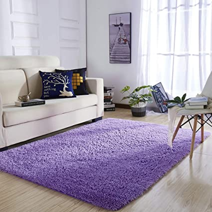 Attrayant YOH Super Ultra Polyester Fiber Area Rugs Bedroom Mats Fluffy Shaggy Rugs  For Living Room Bedroom