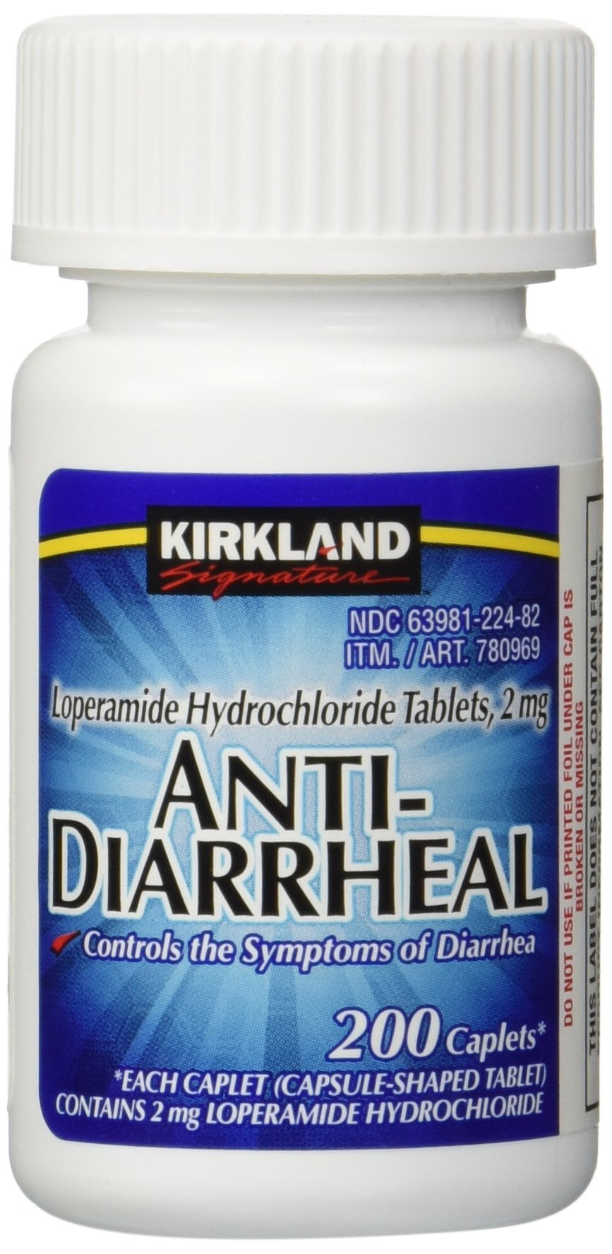 Anti-Diarrheal Loperamide Hydrochloride 2 mg 2,800 Caplets Total (Pack of 14) by Kirkland Signature