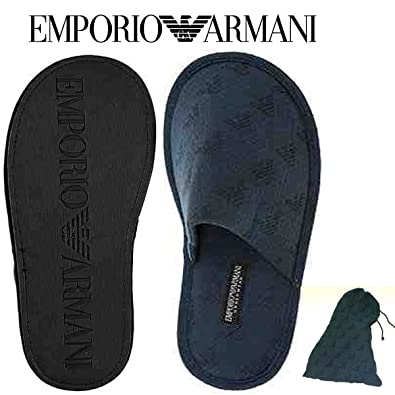 0dd26ab6bae5 Emporio Armani BNWT 100% Authentic Eagle Logo Men s Mules Slippers With  Authencity Certificate Shoes Navy