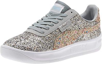 Sin marxista metal  Amazon.com | PUMA Womens California Glitz Sneakers Shoes Casual - Silver |  Oxfords