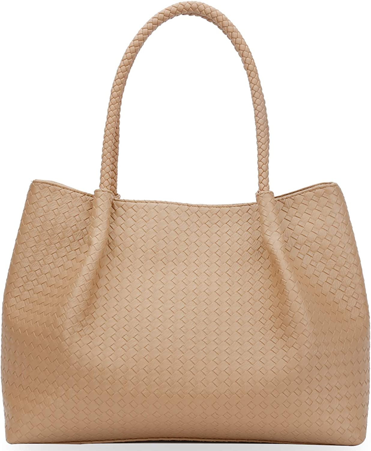 KKXIU Tote Bag For Women Synthetic Leather Embossing Shoulder Purse Handbag |For Work School Travel Business Shopping
