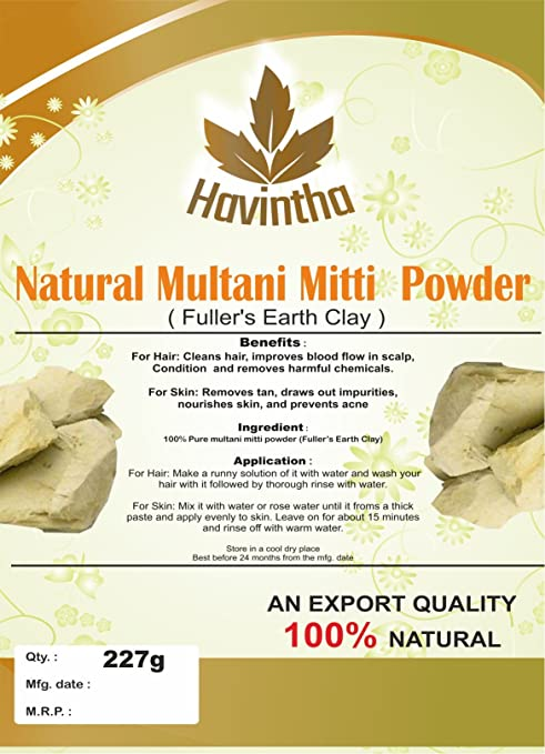 Havintha Natural Multani Mitti Powder Product Of Havintha Natural