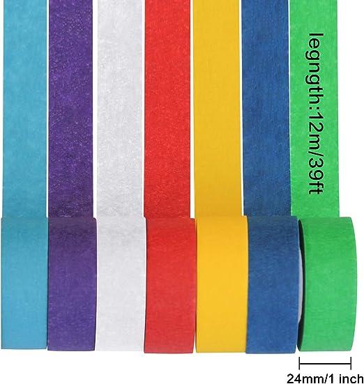 Veylin Ruban de masquage color/é 7 couleurs pour loisirs cr/éatifs