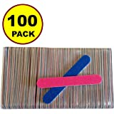 NEW 100 PCS Disposable Professional Beauty Care Nail File 100/240 grit nail Buffer Buffing slim cresent tool Toddler Baby nail file