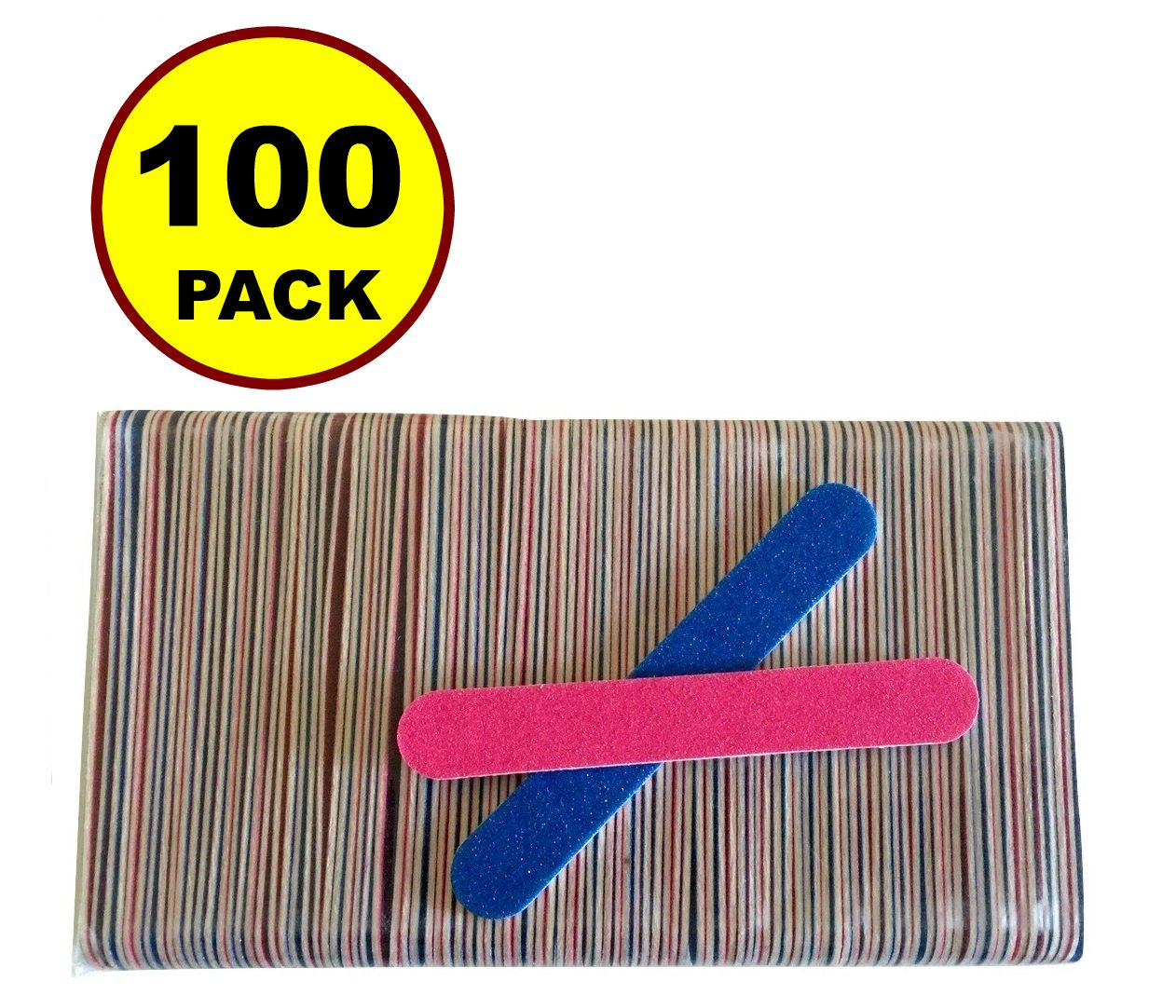 NEW 100 PCS Disposable Professional Beauty Care Nail File 100/240 grit nail Buffer Buffing slim cresent tool Toddler Baby nail file JJMG