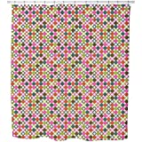 Star Bingo Shower Curtain: Large Waterproof Luxurious Bathroom Design Woven Fabric