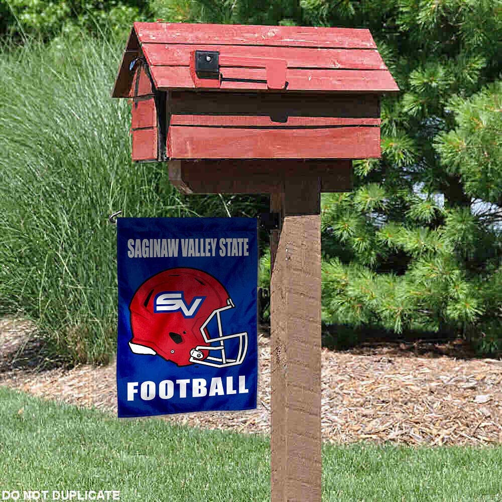 College Flags /& Banners Co Saginaw Valley State Cardinals Football Helmet Garden Yard Flag