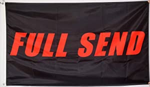 bA1 Outdoor Nelk Boys - Full Send Flag - Cool Flags - Funny Banner for College Dorm Room, Man Cave, Tailgates and Parties - 3x5 Feet