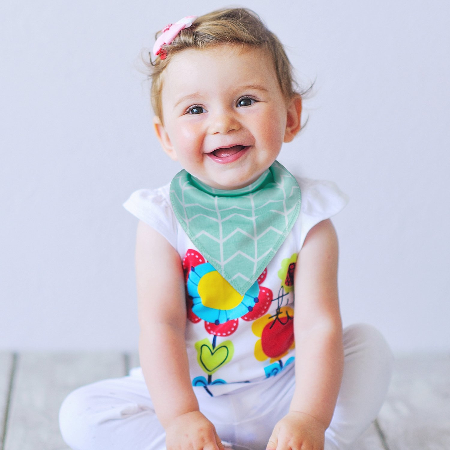 10-Pack Baby Bandana Drool Bibs for Drooling and Teething Boys Girls by MiiYoung by MiiYoung (Image #6)
