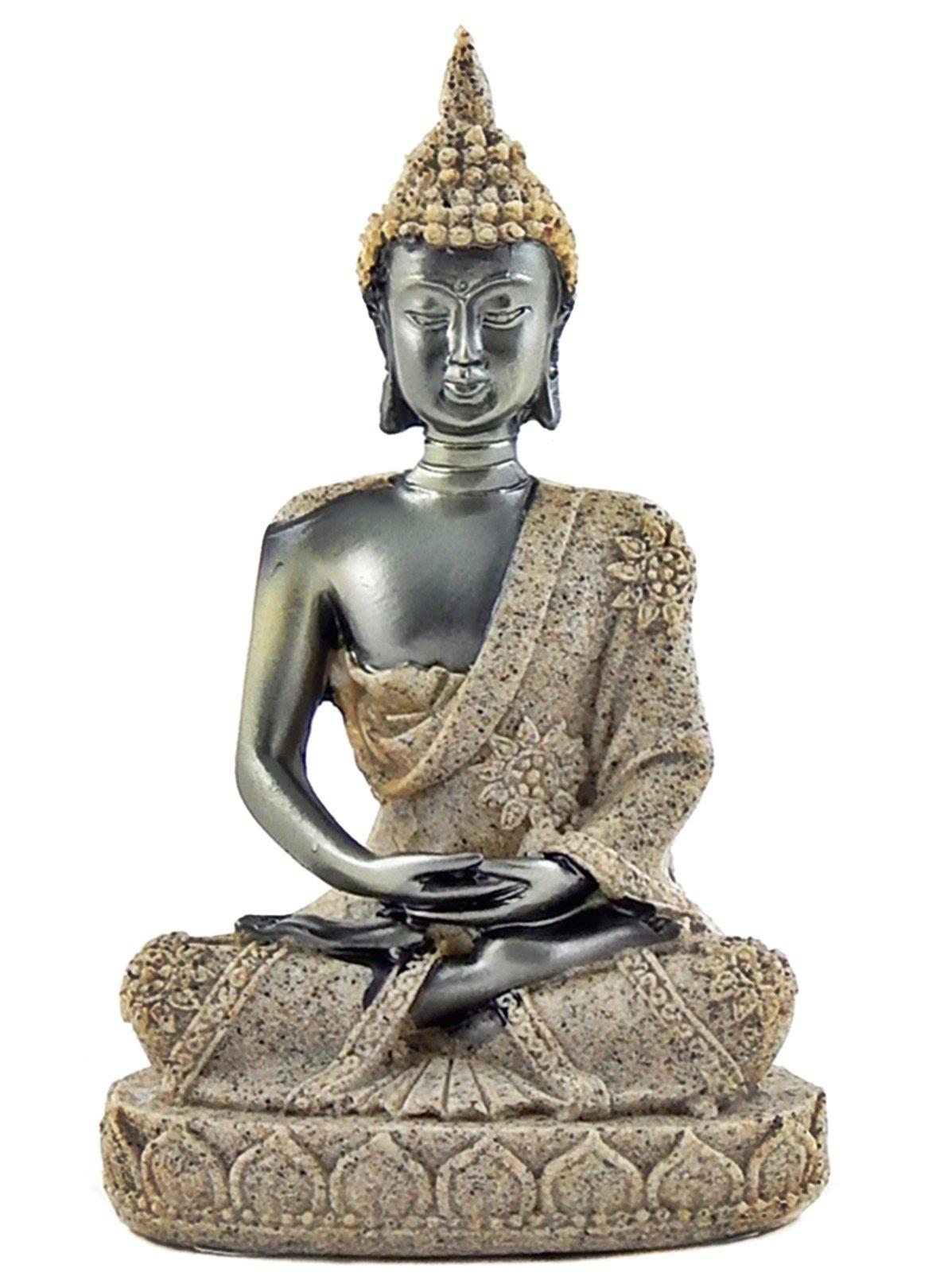 Bellaa 23637 Buddha Statue Blessing Zen Meditating Thai Peace Harmony