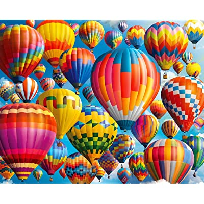 Springbok's 1000 Piece Jigsaw Puzzle Balloon Fest: Toys & Games