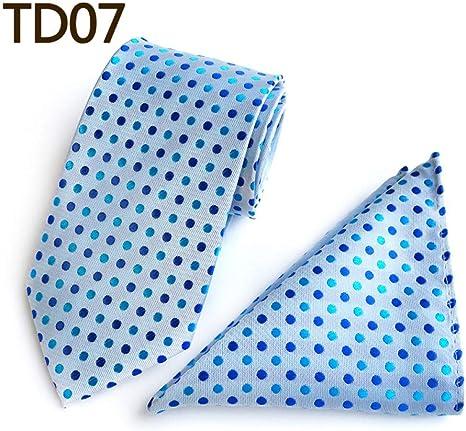 CDBGPZLD Mans Polka Dot Tie Conjunto de pañuelos Floral Skinny Tie ...