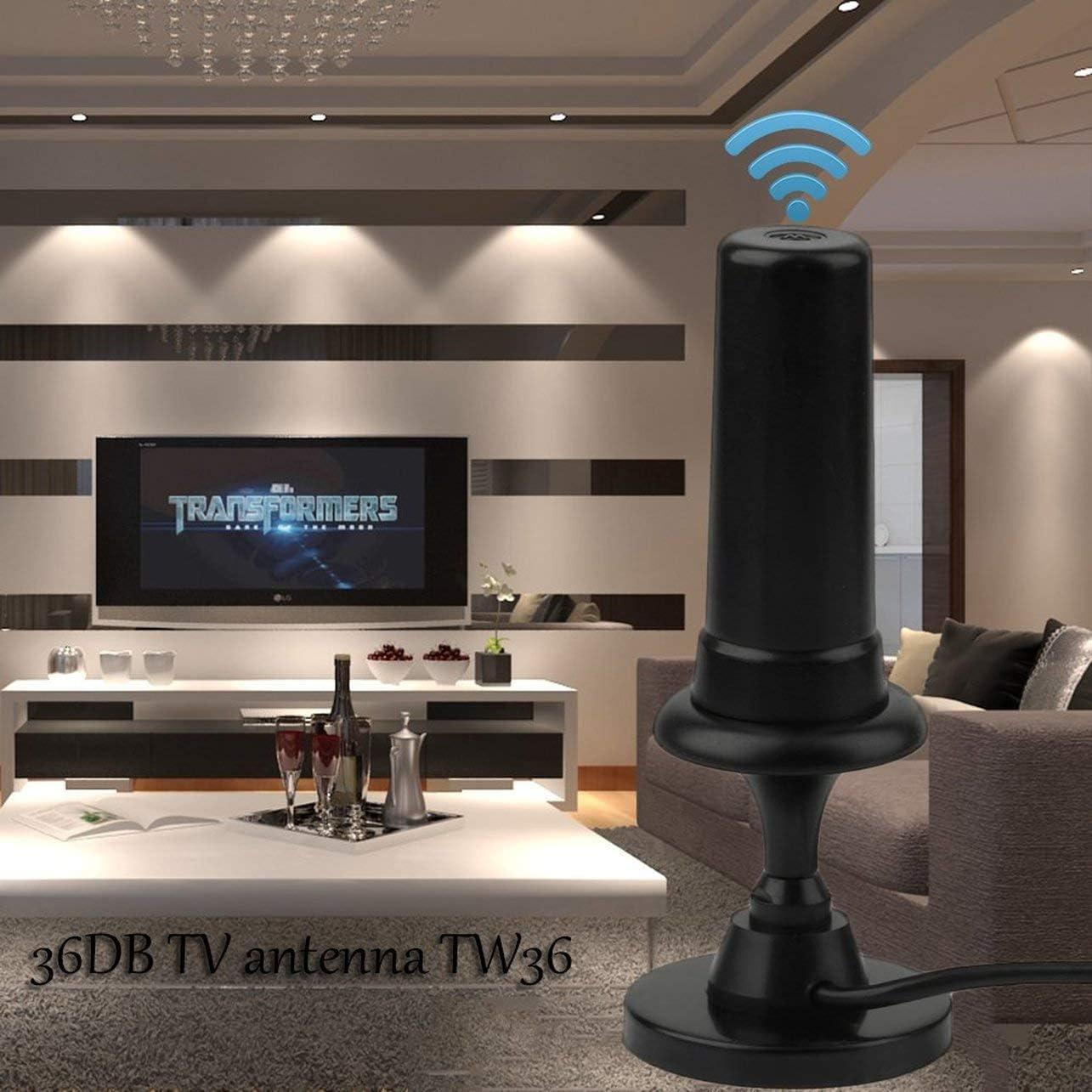 WOSOSYEYO WiFi Inalámbrico TDT Antena de TV Digital Antena 36dbi 36dB Amplificador de señal Antenas per Auto TW36 para el Ordenador portátil DVB-T DVB-T HDTV PC: Amazon.es: Electrónica