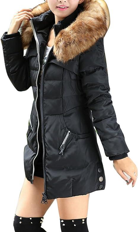 Nouveau Manteau Hiver pour Femmes Veste Rembourré Chaud Col