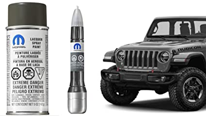 Mopar PDN Sting Gray 2018 Jeep JL Wrangler Touch Up Paint Genuine 5 Oz  Aerosol Spray