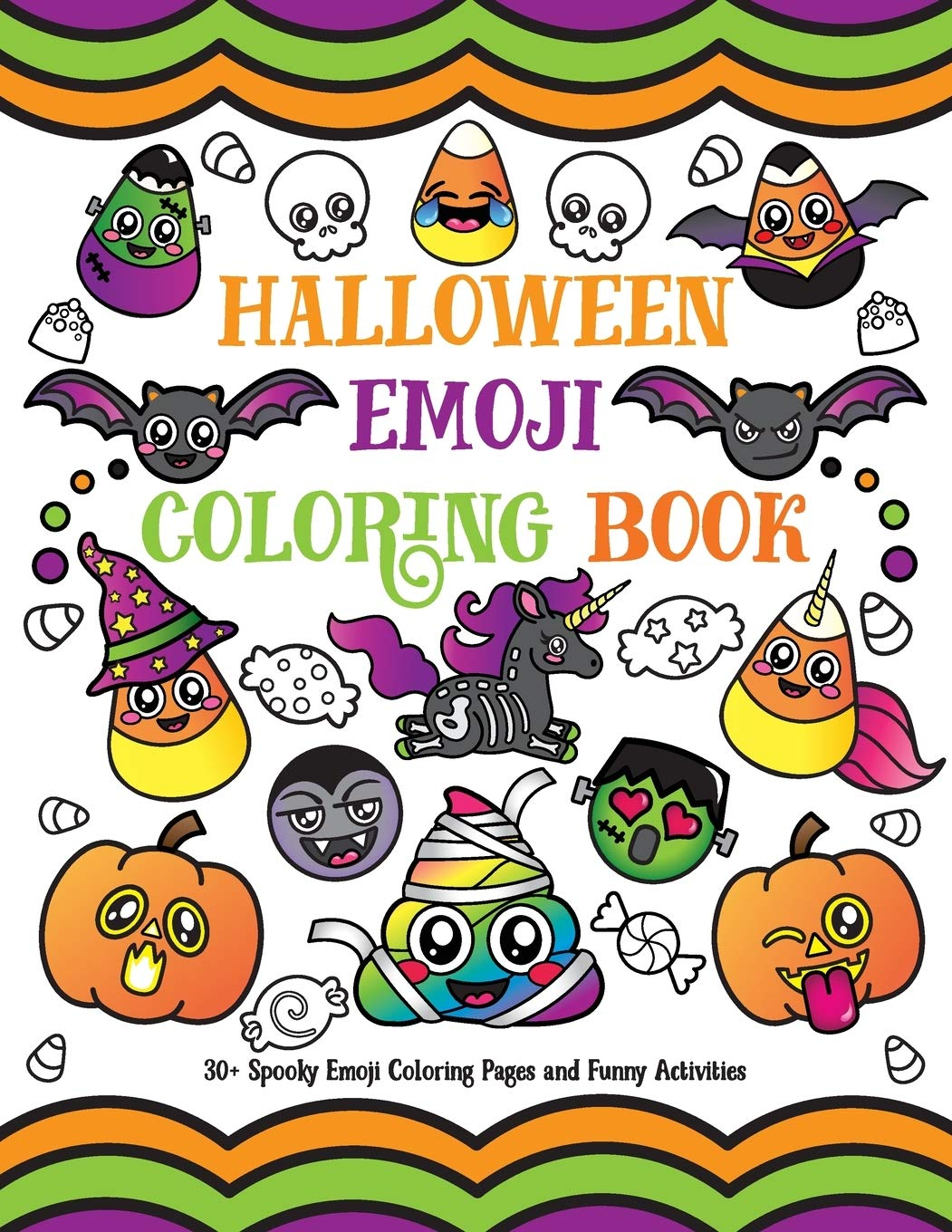 - Halloween Emoji Coloring Book: 30+ Spooky Emoji Coloring Pages And