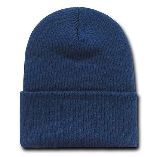 NAVY BLUE LONG BEANIE SKI CAP CAPS HAT HATS CUFFED at Amazon Men s ... 89de0188cf5