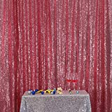 """Fuchsia Pink 4FTx6FT PartyDelight Sequin Wedding Fabric Party Background Sparkly Wedding Decor (48""""x72)"""