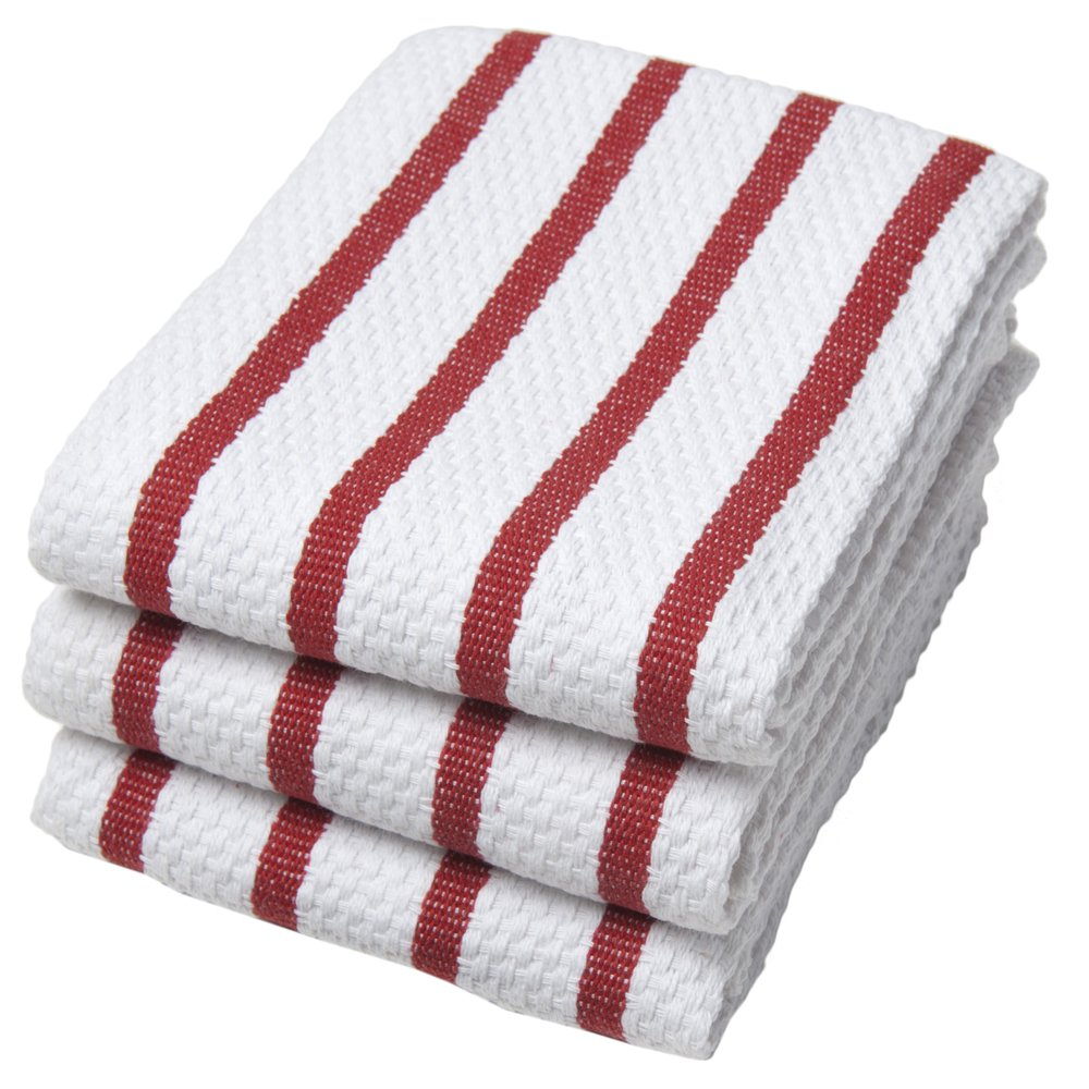 Amazon.com: Now Designs Basketweave Kitchen Towel, Set of 3, Red ...