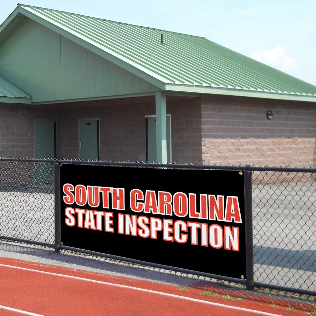 Vinyl Banner Sign South Carolina State Inspection Business Marketing Advertising Brown Multiple Sizes Available Set of 3 24inx60in 4 Grommets