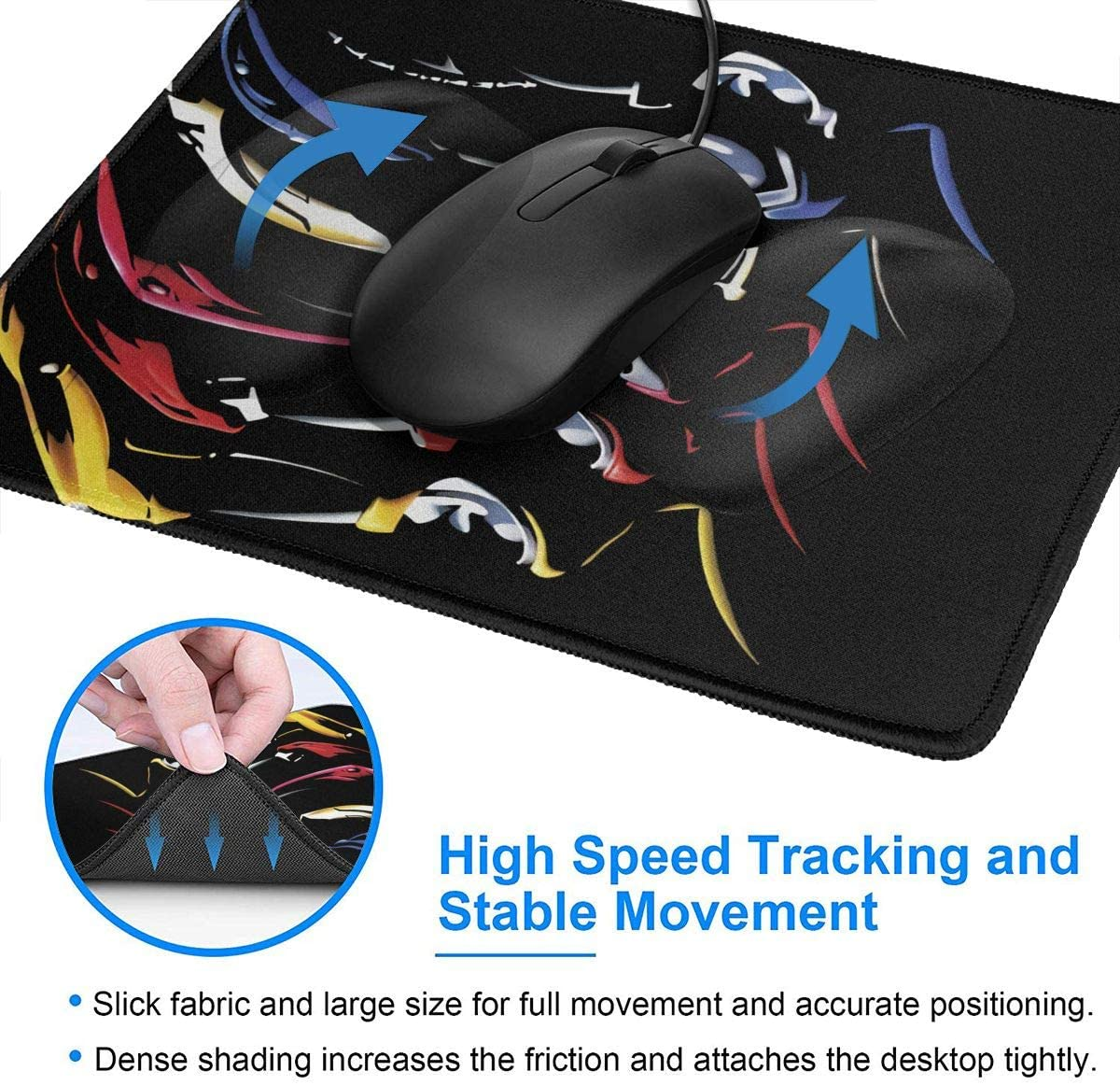 Laptop Wehoiweh Mighty Morphin Power Rangers Mouse Pads for Computers Office /& Home,Multiple Sizes