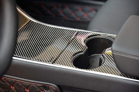 Amazon Com Lmzx Car Center Console Wrap Carbon Fiber Sticker