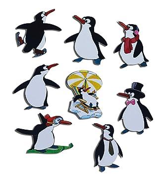 9587d925d5 Kühlschrankmagnete Pinguin Magnete für Magnettafel Kinder stark 8er Set  Tiere lustig mit Motiv Comic Pinguine