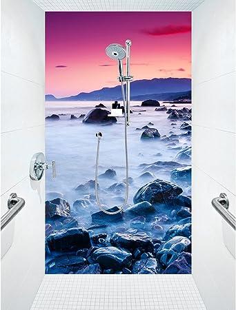 Ducha posterior una placa acrílico Plexiglás ducha baño pared ...