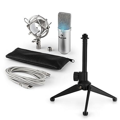 auna MIC-900S LED USB Set de micrófonos V1 - micrófono condensador ...