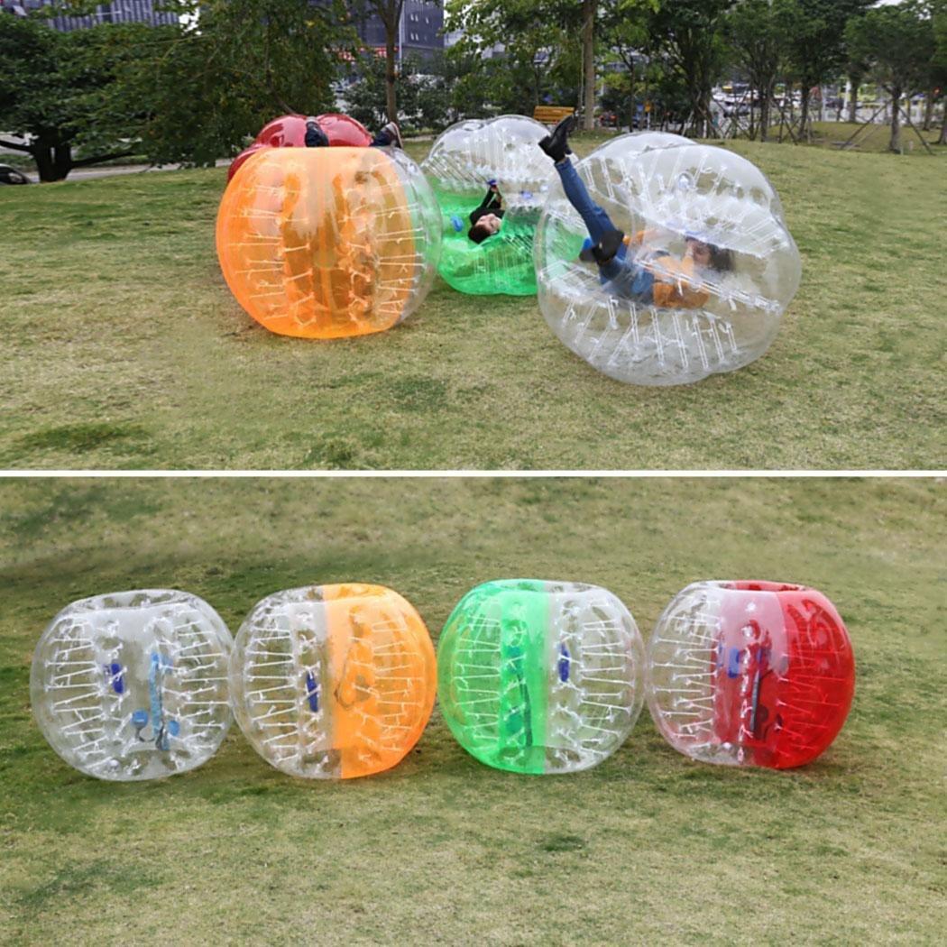 dtemple Tpu透明インフレータブルバンパーボールHuman Knockerボールバブルサッカー1.2 M大人とTeenagers、USストック B077N9XGQSホワイト