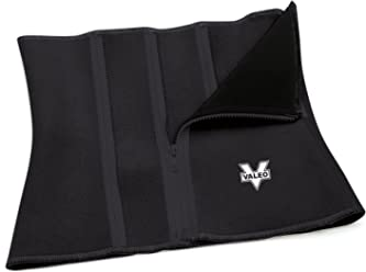 Valeo Slimmer Belt With Zippers With Soft Neoprene Interior Construction And Adjustable Zipper Closure To Fit