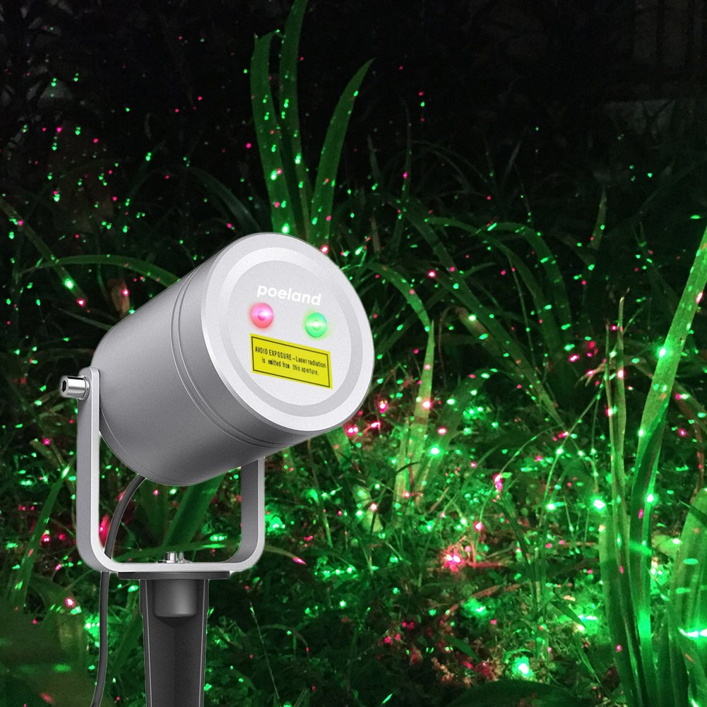 Poeland Christmas Laser Light Moving Firefly Outdoor Projector