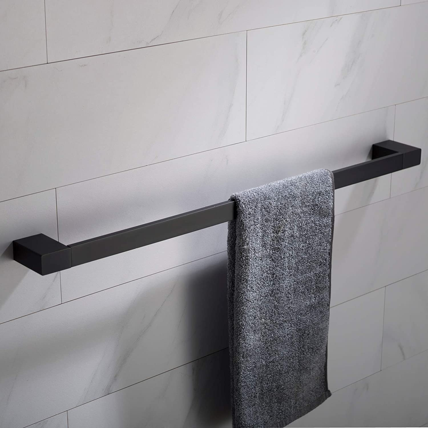 Kraus Stelios 24 Inch Bathroom Towel Bar Matte Black Finish Kea 19937mb Amazon Com