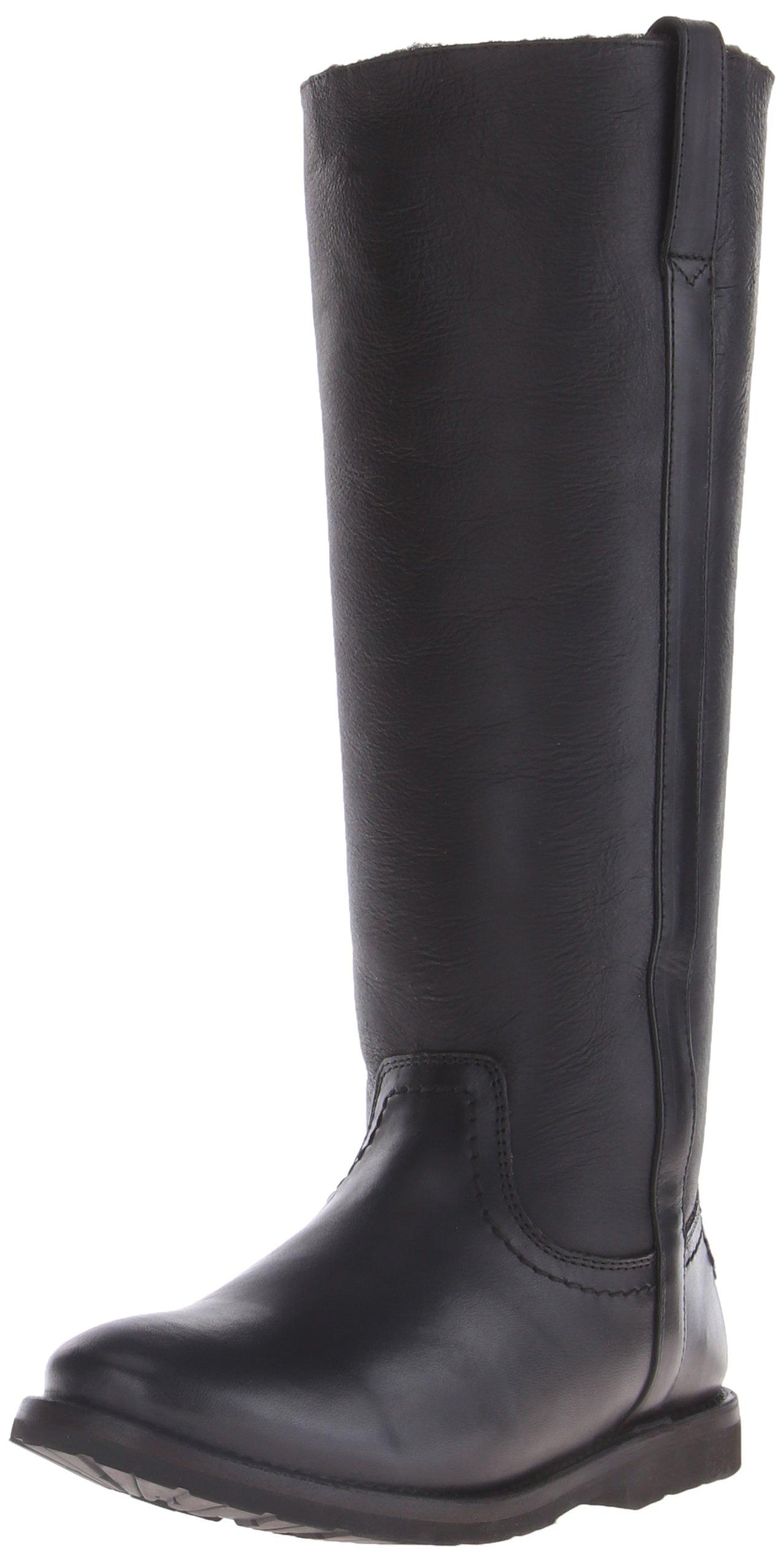 FRYE Women's Celia Shearling Tall Winter Boot,  Black, 8.5 M US