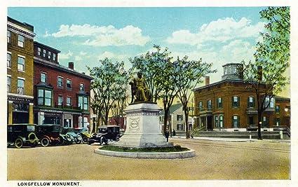 Amazon com: Portland, Maine - View of Longfellow Monument and