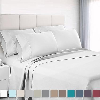 High Quality Premium 6 Piece Bed Sheet U0026 Pillow Case Set U2013 Luxurious U0026 Soft King Size