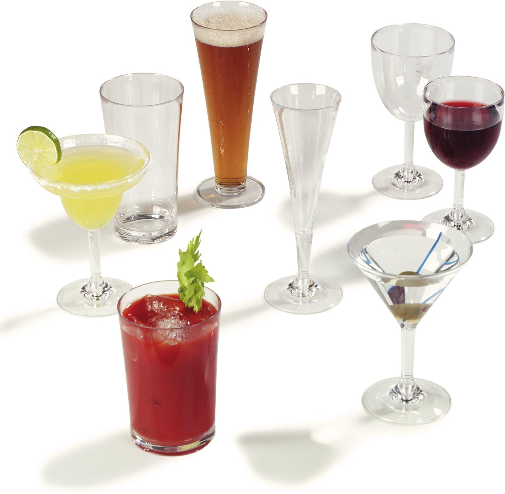 Carlisle 4362707 Liberty Polycarbonate Martini Glass, 8-oz. Capacity, Clear (Case of 24) by Carlisle (Image #6)