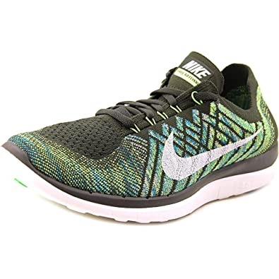 sports shoes 3eab4 fad5e Nike Men s Free Flyknit 4.0 Running Shoes (10, Sequoia Summit White Electric