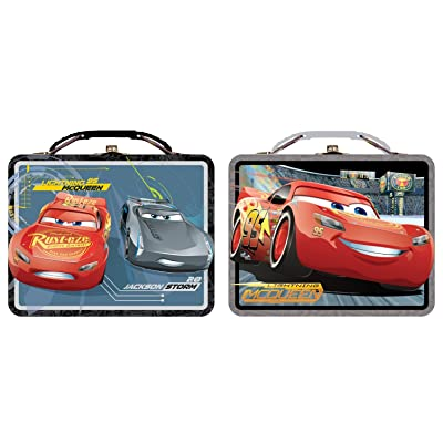 Cars Lunch Box - Disney 3 (1 Style Only) Metal Tin Case tin617677: Toys & Games