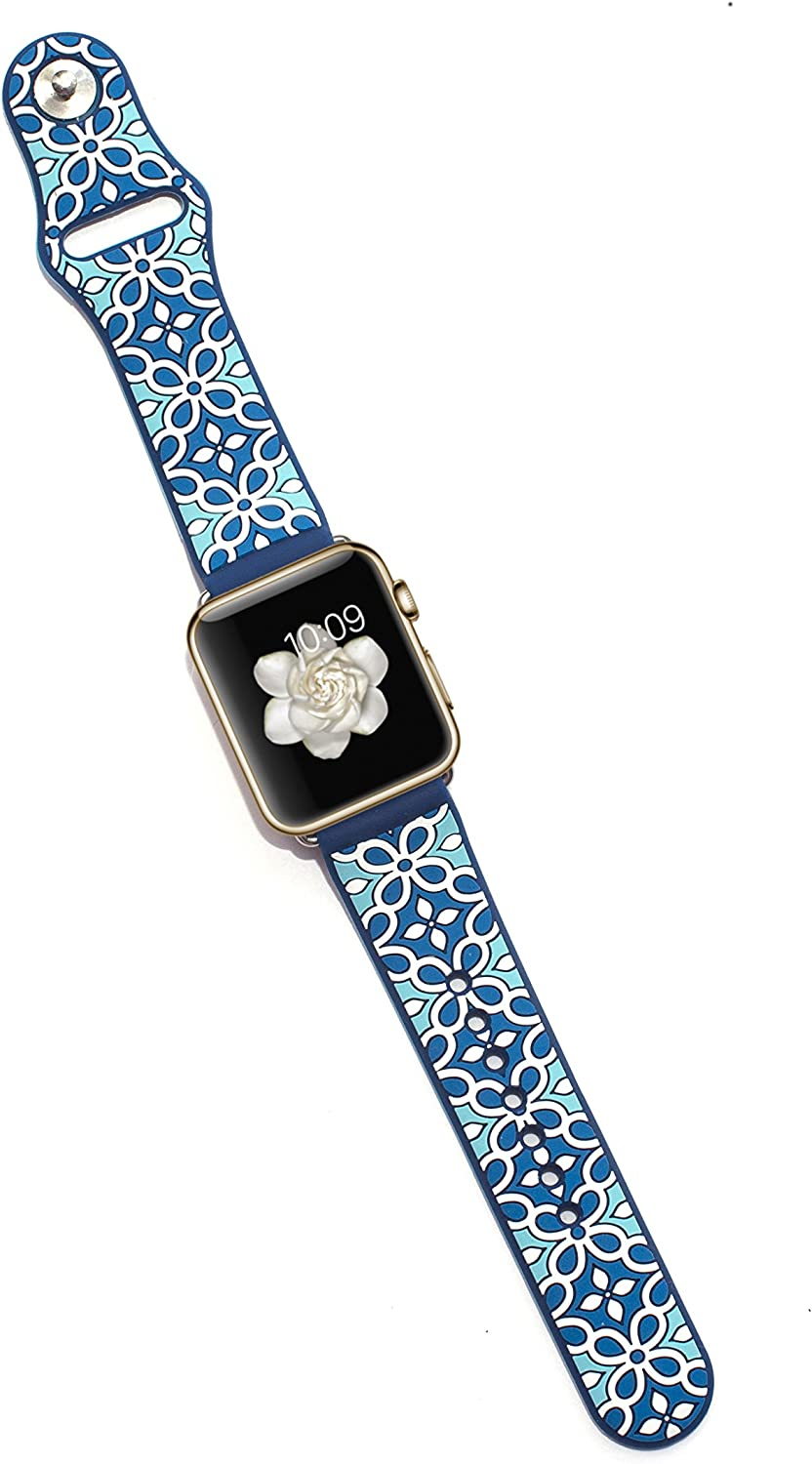 Tech Candy Cases for Apple Watch Band 38mm Compatible with Apple Watch - Aqua Deep Blue
