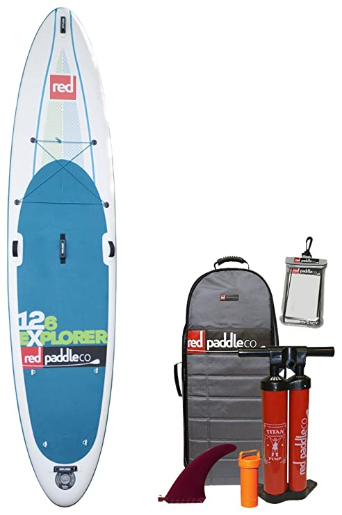 "Red Paddle Co Explorer 126"" x 32"" Tablas Paddle Surf hinchables,"