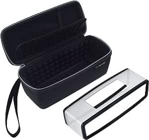Eco-Fused Estuche para llevar y TPU Cubierta diseñado Compatible con Bose Soundlink Mini 1 y 2 - proteger y transportar – Burbuja acolchado para el altavoz – Bolsillo de malla – Correa para la muñeca