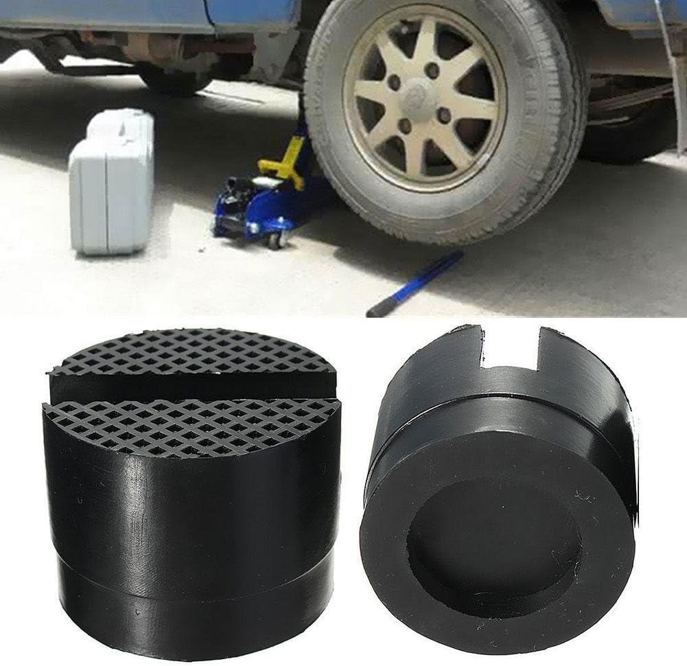 2 Pcs 5cm Car Universal Slotted Frame Rail Floor Jack Guard Adapter Lift Rubber